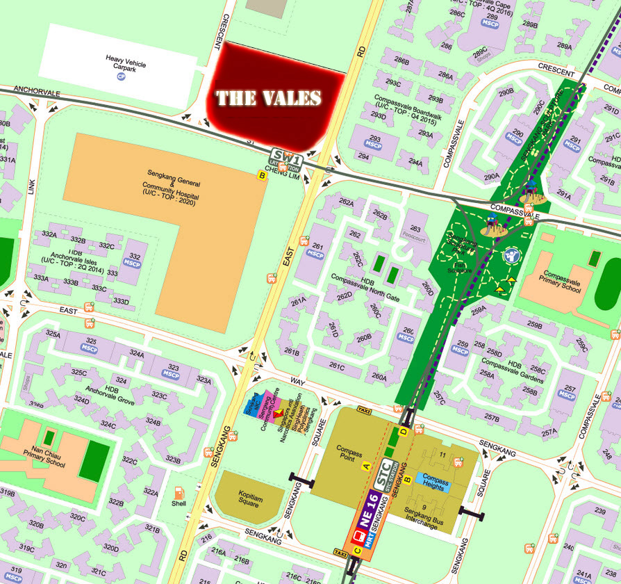 The Vales Location
